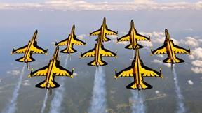 akrobasi timi,black eagles,güney kore,savaş uçağı,gökyüzü