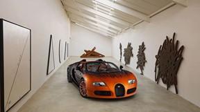 bugatti veyron,grand sport,bernar venet
