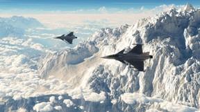 dassault rafale,uçak,savaş uçağı,avcı uçağı,gökyüzü,dağ