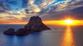 ibiza,ispanya,deniz,günbatımı