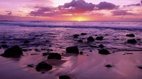 doğa,deniz,günbatımı,kumsal,bulut,gökyüzü