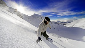 snowboard,kar,dağ,kış,gökyüzü
