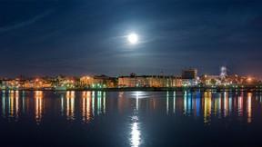 şupaşkar,çuvaşistan,şehir,nehir,gece,gökyüzü