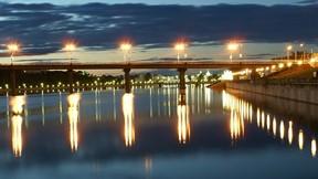 şupaşkar,çuvaşistan,şehir,nehir,gece,köprü