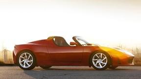 araba,tesla,roadster,güneş