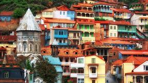 tiflis,şehir,renkli,ev