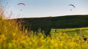 yaz,paraşüt,doğa,çayır