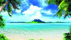 yaz,ada,deniz,doğa,manzara