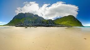 yaz,kumsal,dağ,deniz,gökyüzü