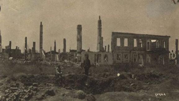 Çanakkale Civarında Tahrip Edilen Binalar