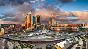astana,şehir,kazakistan,günbatımı