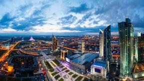astana,şehir,kazakistan,gece
