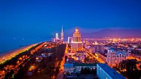 batum,gürcistan,gece,şehir