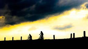 bisiklet,spor,günbatımı