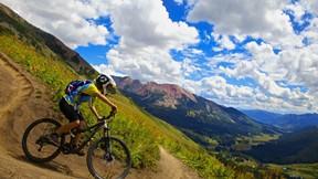 bisiklet,dağ,gökyüzü,orman