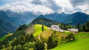 doğa,dağ,ev,orman,ağaç