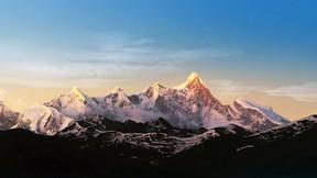 doğa,dağ,kar,gökyüzü
