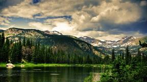 doğa,dağ,orman,göl,ağaç