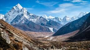 doğa,dağ,vadi,kar,gökyüzü