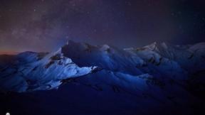 doğa,gece,dağ,kar