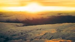 doğa,dağ,kar,günbatımı