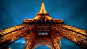 eyfel kulesi,paris,fransa,gece