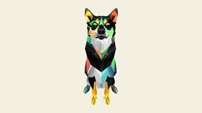 soyut,geometrik,köpek
