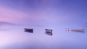doğa,göl,tekne,sis