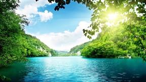 doğa,göl,orman,güneş,gökyüzü
