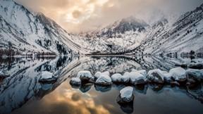 doğa,göl,dağ,kar