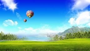 soyut,illüstrasyon,doğa,balon,gökyüzü,şehir