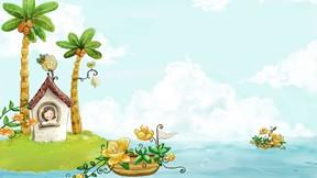 soyut,illüstrasyon,ada,ev,deniz
