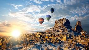 kapadokya,nevşehir,günbatımı,balon