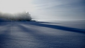 kış,orman,gökyüzü,kar,göl