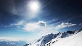 kış,kar,dağ,gökyüzü,güneş