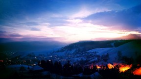 kış,kar,şehir,gece