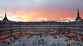 madrid,şehir,ispanya,günbatımı