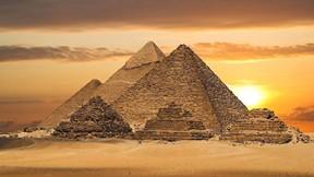 mısır pramitleri,piramit,mısır,günbatımı