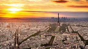 paris,fransa,günbatımı