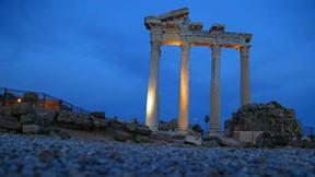 apollon tapınağı,aydın,gece