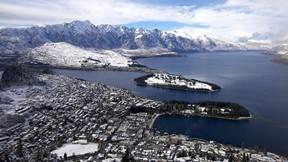 queenstown,yeni zelanda,göl,dağ,kar,şehir