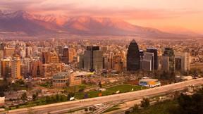 santiago,şehir,şili,günbatımı