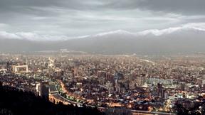 santiago,şehir,şili,dağ