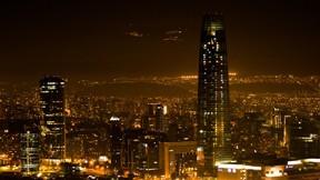 santiago,şehir,şili,gece