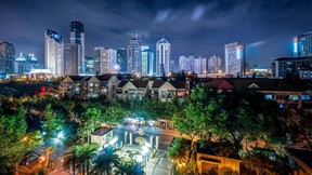 şangay,şehir,çin,gece