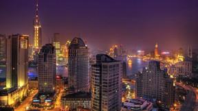 şangay,şehir,çin,gece,deniz