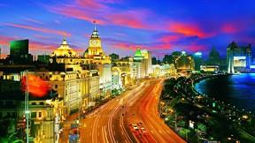 şangay,şehir,çin,gece,ışık