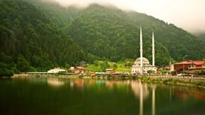 uzun göl,trabzon,göl,doğa,orman,ağaç,cami