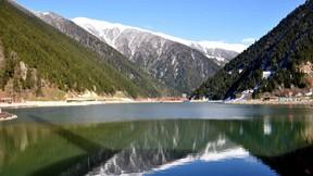 uzun göl,trabzon,göl,doğa,orman,ağaç,kar,gökyüzü