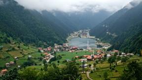 uzun göl,trabzon,göl,doğa,orman,ağaç,duman